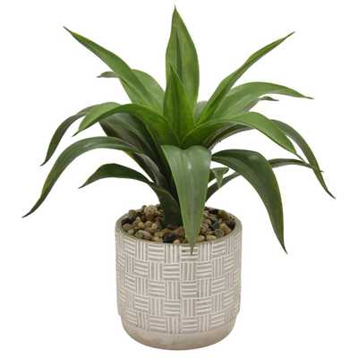 THREE HANDS 16 in. Faux Succulents in Flower Pot - Home Depot