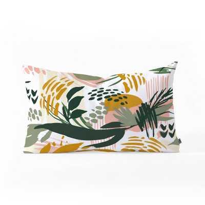 Marta Barragan Camarasa Art Nature Brushstrokes Oblong Lumbar Throw Pillow Green - Deny Designs - Target