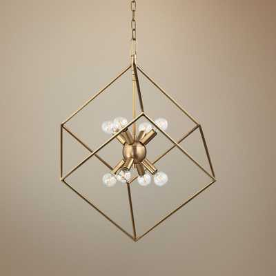"""Hudson Valley Roundout 23"""" Wide Aged Brass Pendant Light - Style # 9P718 - Lamps Plus"""