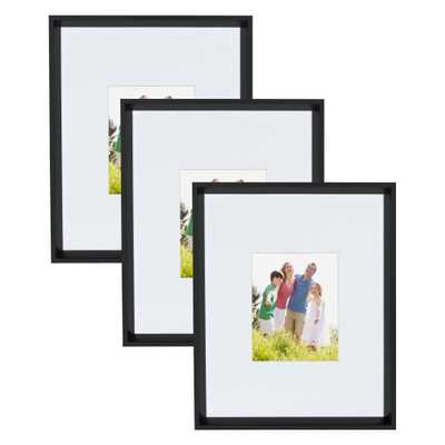 Calter 16x20 matted to 8x10 Black Picture Frame (Set of 3) - Home Depot