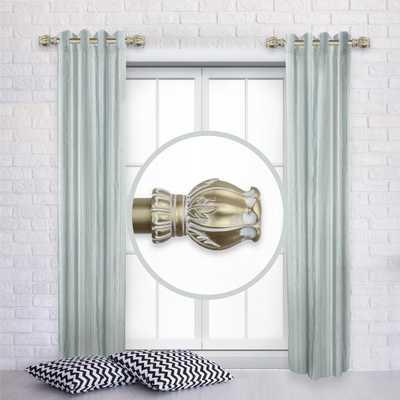 Rod Desyne Regent 12 in. - 20 in. L Adjustable 1 in. Dia Single Side Window Curtain Rod in Light Gold (Set of 2) - Home Depot