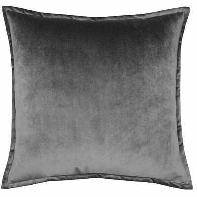 Dicarlo Velvet Grey Pillow With Flange - Wayfair