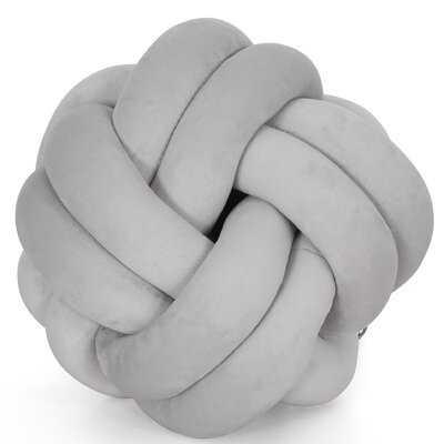 Haris Soft Clove Hitch Knot Velvet Throw Pillow - Wayfair
