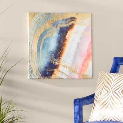'Marianna Abstract Art' Wrapped Canvas Graphic Art Print on Canvas - AllModern