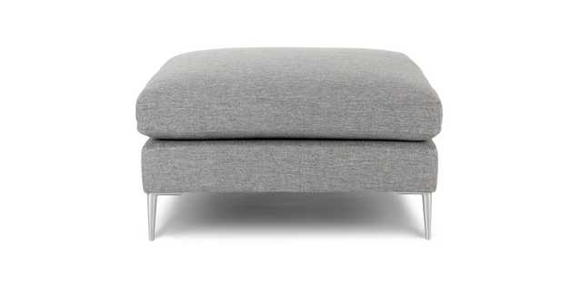 Nova Winter Gray Ottoman - Article