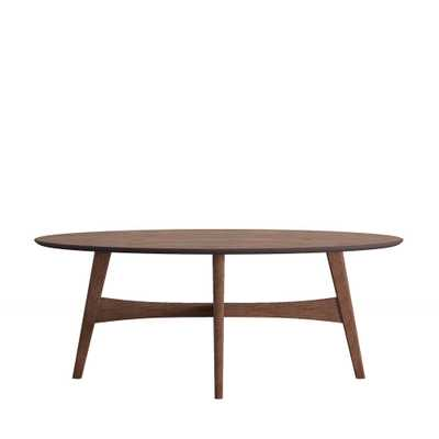 Calamar Walnut (Brown) Mid Century Cocktail Table - Home Depot