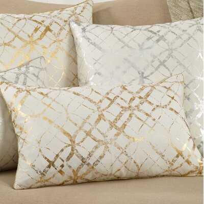 Metallic Foil Print Pillow in , Cover Only - Wayfair