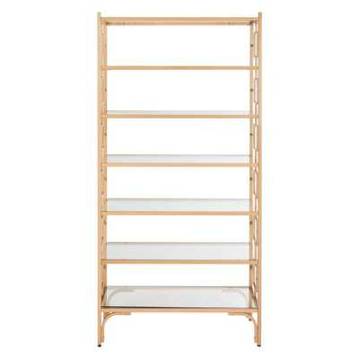 Brooklyn 7 Tier Etagere Gold/Clear - Safavieh - Target