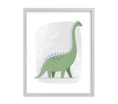 Happy Dino Wall Art by Minted(R), 11x14, Gray - Pottery Barn Kids