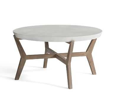 Raylan Outdoor Coffee Table, Weathered Gray - Pottery Barn