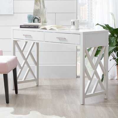 Olney Lattice Writing Desk - Wayfair