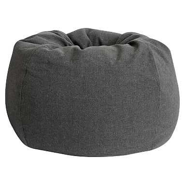 Charcoal Tweed Beanbag, Slipcover + Insert, Large - Pottery Barn Teen