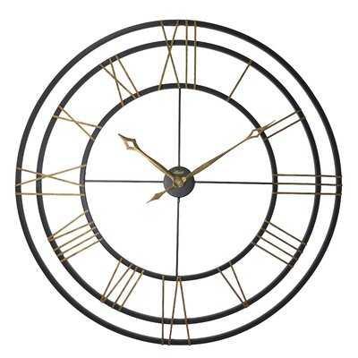 "Oversized 45"" Round Wall Clock - Wayfair"