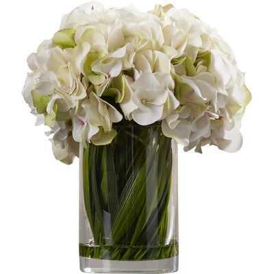 Collingwood Hydrangea Floral Arrangement in Vase - AllModern