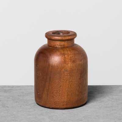 Wood Bud Vase Large - Hearth & Hand with Magnolia, Brown - Target