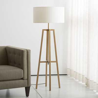 Lewis Brass Floor Lamp - Crate and Barrel