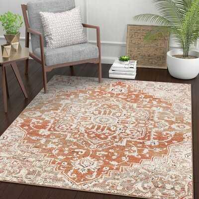 Well Woven Tikal Caine Brick Orange Vintage Persian Oriental Area Rug - Wayfair