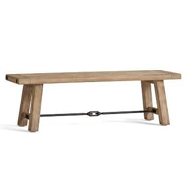 Benchwright Dining Bench, Small, Seadrift - Pottery Barn