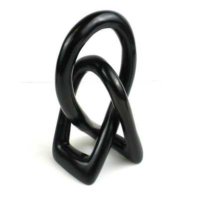 Riker Natural Soapstone Lovers Knot Sculpture - Wayfair