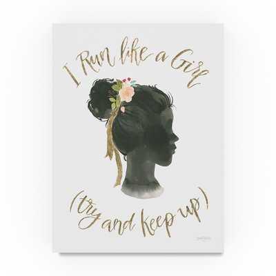 'Girl Power IX' Graphic Art Print on Wrapped Canvas - Wayfair