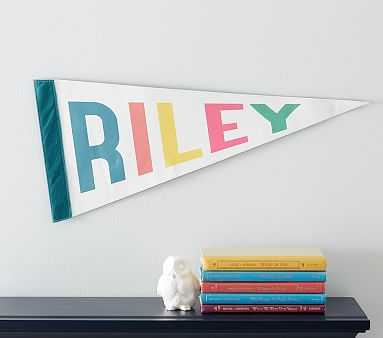 Personalized Pennant Flag, Multi Bright - Pottery Barn Kids