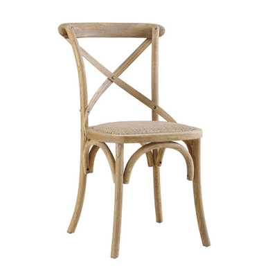 Linon Home Decor Set of Two Brown Bentwood Chairs, Gray - Home Depot
