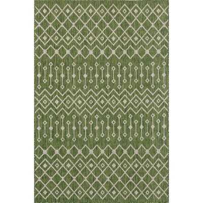 Adley Green/Beige Indoor/Outdoor Area Rug - Wayfair