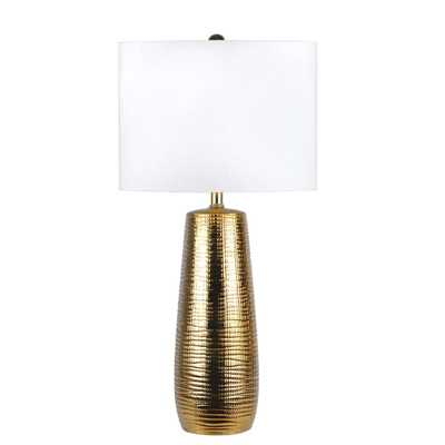 Nuloom Acacia Ceramic Tower 26 in. Gold Table Lamp - Home Depot
