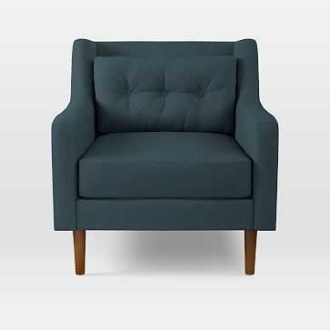 Crosby Armchair, Twill, Teal - West Elm