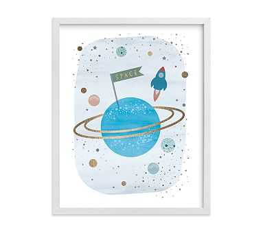 Outer Space Wall Art by Minted(R), 11x14, White - Pottery Barn Kids