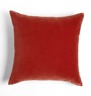 Italian Velvet Pillow Cover - Ember - Rejuvenation