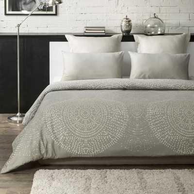 Humus Wrinkle Resistant Reversible Print 100% Organic Cotton Beige King Duvet Cover Set - Home Depot