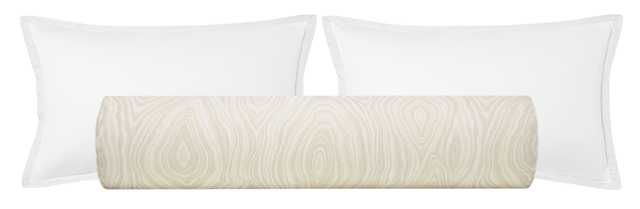 "The Bolster :: Agate Linen Print // Natural - KING // 9"" X 48"" - Little Design Company"