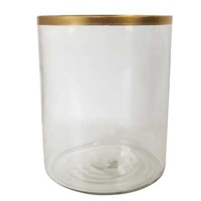 Donnely Glass Gold Rim Table Vase - Wayfair