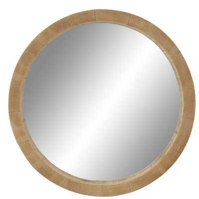 """Alper 24"""" Rustic Round Accent Mirror - Wayfair"""