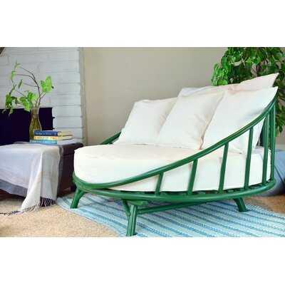 Olu Bamboo Round Patio Daybed with Cushions - Wayfair
