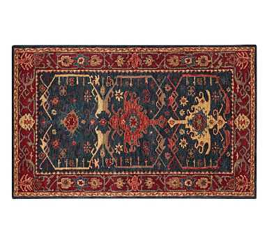 Channing Persian Rug, 5 x 8', Indigo - Pottery Barn