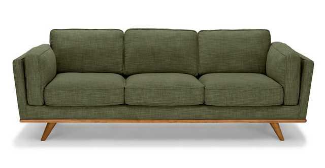 Timber Olio Green Sofa - Article