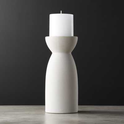 Borough Large Ceramic Pillar Candle Holder - CB2