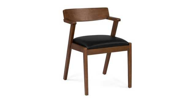 Zola Black Leather Dining Chair - Article