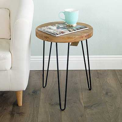 Cadet Old Elm Wood End Table - Wayfair