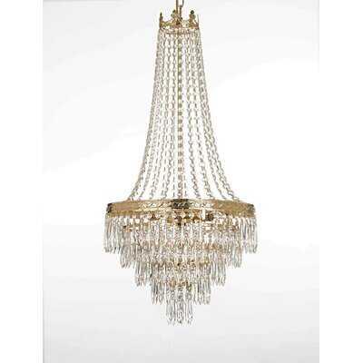 Mendelson French Empire Crystal Chandelier Lighting Empress Crystal (Tm) - Wayfair