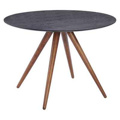 Mid-Century Modern 42 Round Dining Table - Walnut (Brown)/Matte Black - ZM Home - Target