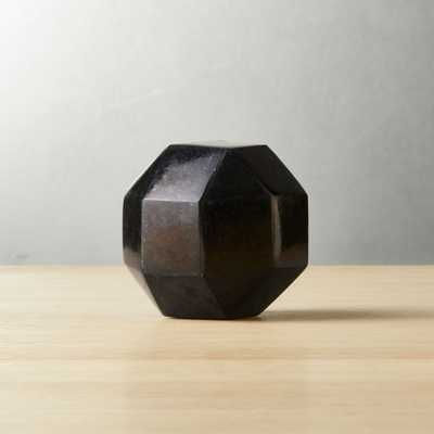"""Black Dodecahedron Stone 3"""" - CB2"""