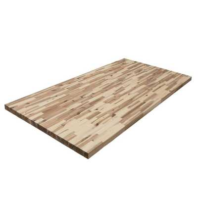 Yow 6 ft. 2 in. L x 3 ft. 3 in. D x 1.5 in. T Butcher Block Countertop in Unfinished Acacia Wood - Home Depot