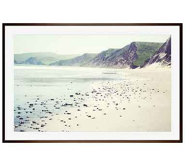 "Pebbly Beach Framed Print by Lupen Grainne, 28x42"", Wood Gallery Frame, Espresso, Mat - Pottery Barn"