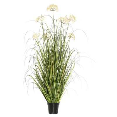 Artificial Flowering Grass in Pot - Wayfair