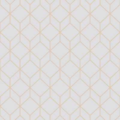 Myrtle Geo Grey and Rose Gold Removable Wallpaper Sample - Home Depot