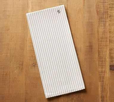 Wheaton Stripe Tea Towel - Flax - Pottery Barn