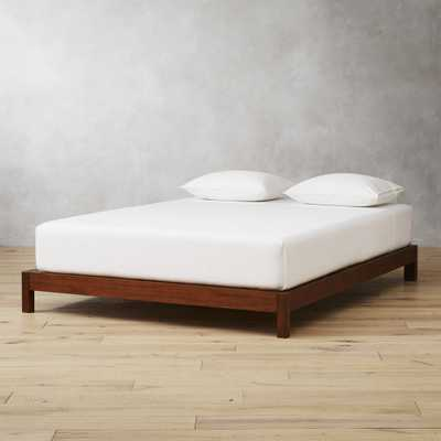 Simple Wood Bed Base Queen - CB2